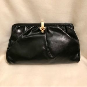 ✨EUC Vintage Neiman Marcus Leather Clutch Bag